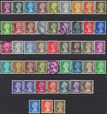 Great Britain 1998   Collection Of (46) Stamps Used Cv.£70.50
