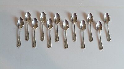Set/12 Whiting Mfg. STRATFORD Sterling Silver Demitasse Spoons, 110 grams