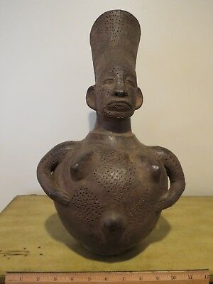Anthropomorphic Vase Figure Figurine Statue - Home Decor - African - Africa ?