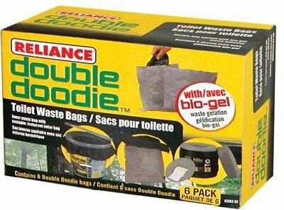 Reliance Products 268303  Double Doodie Toilet Waste Bags 6Pack