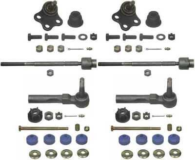 2 Front Lower Ball Joints + 2 Sway Bar Links + 4 Outer And Inner Tie Rods Kit