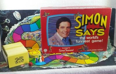 1986 Simon Says Board Game, Simon Townsend, Vintage, Worlds Funniest game!