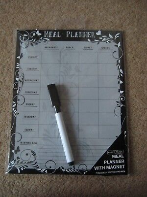 Weekly Magnetic Meal Planner with Pen