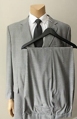 Jos. A Banks Men's Wool Windowpane Plaid Two 2 Piece Suit Size Big & Tall 50XL