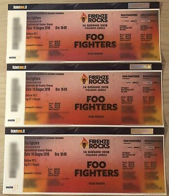 Biglietti Foo Fighters Pit 1 Firenze Sold Out Sottopalco