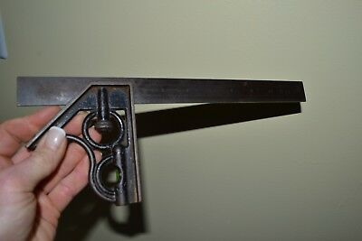 """Vintage Union Tool Co. 12"""" Combination Square, No.4 Hardened Steel Blade"""
