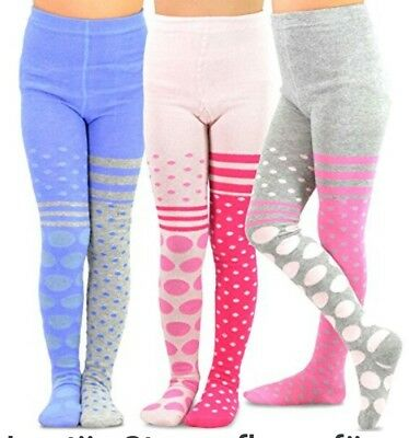 Naartjie Girls Cotton Tights - 3 PACK Stripes - Assorted, size 3 to 5 years