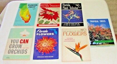Vintage FLORIDA GARDENING CATALOG LOT of 7, VG Condition