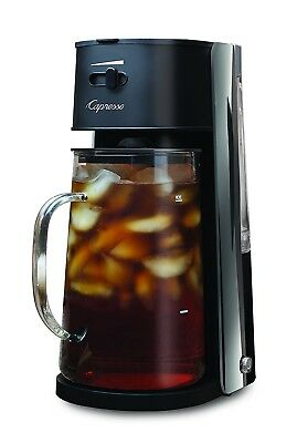 (Black) - Capresso Iced Tea maker with 2370ml Glass Carafe and Removable Water