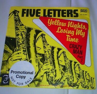 "FIVE LETTERS Yellow Nights, Losing My Time  7"" Vinyl Single PromoTop Zustand"