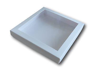 "10 WHITE 6"" x 6"" WINDOW BOX, GREETING CARD, GIFTS, LINGERIE, JEWELLERY ETC"