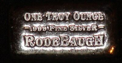 Rodebaugh 2016 1 Troy Ounce .999 Silver Bar *LOW MINTAGE OF ONLY 125*