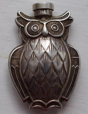 Vintage Tiffany & Co Owl Animal Sterling Silver 925 Perfume Scent Bottle