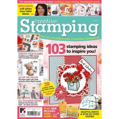 Creative Stamping Magazine Issue 53 With Free A4 Debbi Moore Shoes Dress Stamps