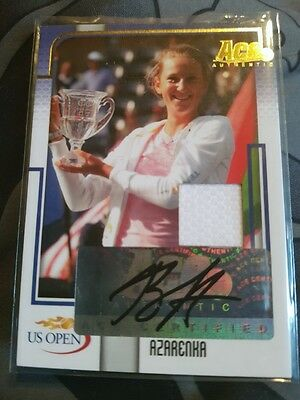 RARE Ace Authentic Victoria Azarenka Autograph Jersey card US Open US I3 #01/02