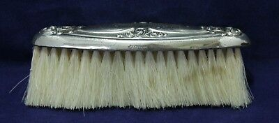 """Antique Sterling Silver Repousse Lint/Crumb Brush - """"P Sterling"""""""