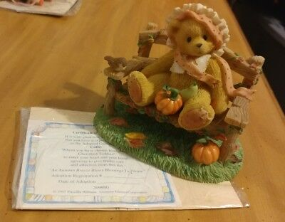 "CHERISHED TEDDIES *CATHY* #269980.. ""An Autumn breeze blows blessings."" CoA"