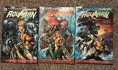 Aquaman Vol 1 2 3 DC Comics New 52 Geoff Johns Trench Others Throne of Atlantis