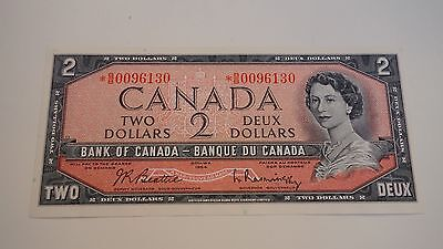 1954 Bank Of Canada  *b/b Replacement / Star  $2  Unc Deux Dollars