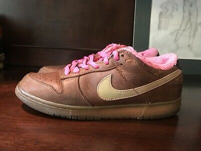 low priced ed8ef 4b164 Nike Sb Dunk Low Gibson Brown Leather Pink Gold VERY RARE! Vintage OG Size  9.5