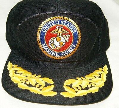 US MARINE CORPS EMBLEM CAP ORIGINAL Made in USA Double Eggs One Size Fits All