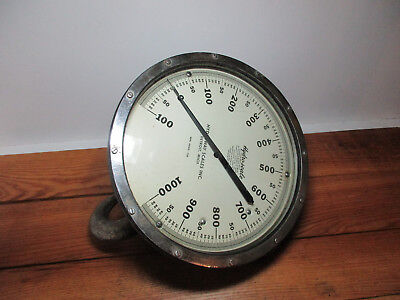 Crane SCALE Hydroscale Hydroway Scales Co. 1000 LB. Pounds Antique Steampunk