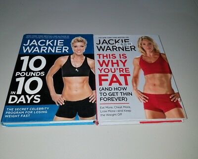 Jackie Warner 2 book lot: 10 pounds in 10 days and This is Why you're fat