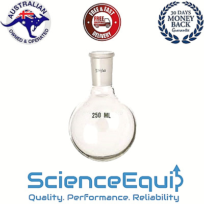 Boiling Flask Round Bottom 250ml,Jointed 24/29 N/S, Premium Borosilicate Glass