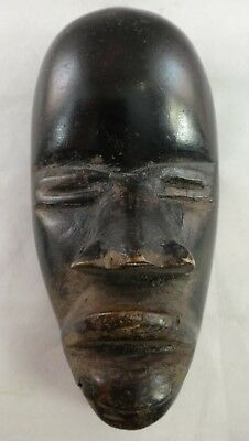 """Vintage African Dan tribe small (passport?) Wood Mask 1st ½ 20th c. 5 1/8"""""""