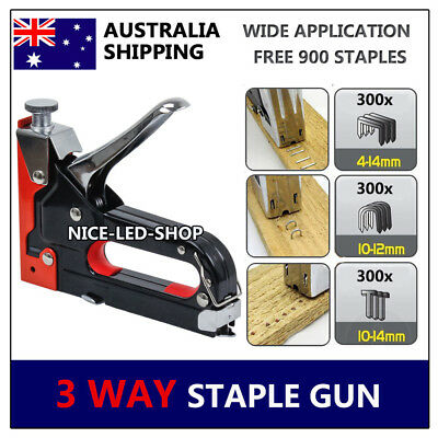 HEAVY DUTY STAPLE GUN TACKER UPHOLSTERY STAPLER Nail Fastener Tool for Wood Farm