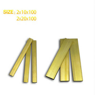 10 Pcs 2mm Thick Brass Strips Use for Groove Processing, L=100mm
