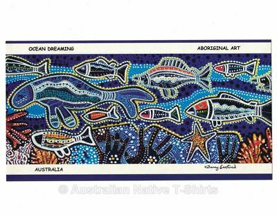 New Australian Aboriginal Dot Art Ocean Dreaming Postcard Set (6 Pack)