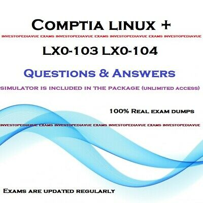 CompTIA Linux+ LX0-103 LX0-104  Real exams questions pdf and simulator