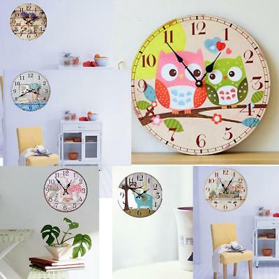 35cm/14'' Digital Antique Wooden Wall Clock Big Number Wall Clock for Home Store