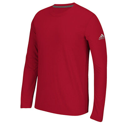 adidas Men's Long Sleeve Ultimate T-Shirt Athletic Fit Tee T-shirt RED Small