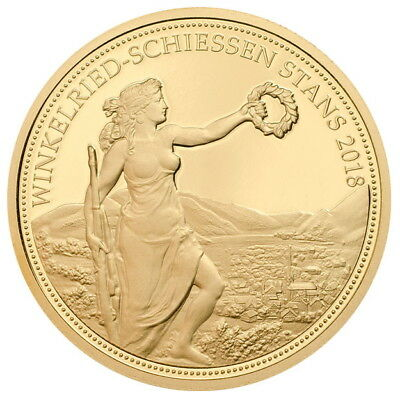 Switzerland 2018 Stans Shooting Festival 500 Swiss Francs Thaler Gold Proof