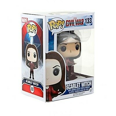 SCARLET WITCH Funko Pop Captain America Civil War 3 #133 Vinyl Bobble-Head NIB