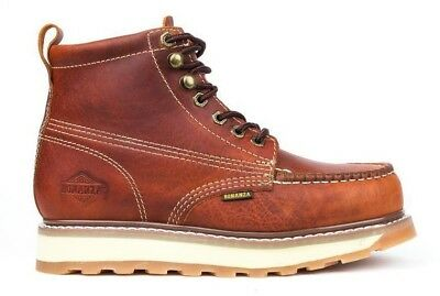 Men's Steel Toe Work Boots Leather Goodyear Welt Oil Resistant Safety Shoes