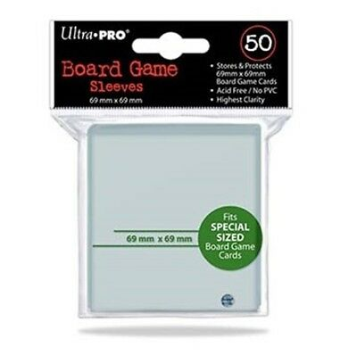 ULTRA PRO Square Board Game Card Sleeves Clear Size 69 x 69mm 50ct