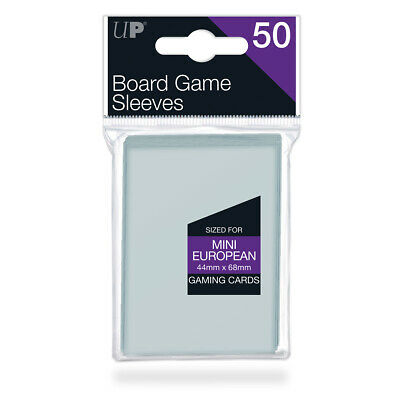 ULTRA PRO Mini European Board Game Card Sleeves Clear Size 44 x 68mm 50ct