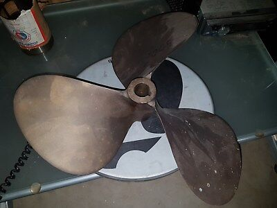 Used Brass Propeller 16LH18 3 blades Federal Equi-poise