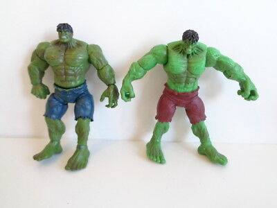 """MARVEL INCREDIBLE HULK - 2 x 6"""" ACTION FIGURES - one with ARM ACTION"""