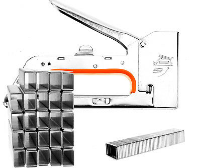 One Handed Staple Gun Ergonomic Handle Office Work Wall with 2500 6mm Staples