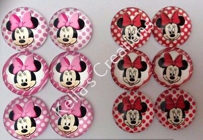 Minnie Mouse 20mm cabochons - Craft - Hair Accessories- Jewellery etc