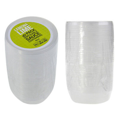 Plastic Round Dipping Sauce Disposable Small Container Cups Lids Takeaway 50ml