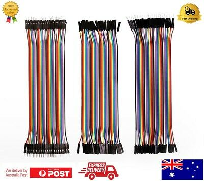 40 pcs Dupont Cable 20cm Jumper Wire for Arduino RPi breadboard -AU Stock