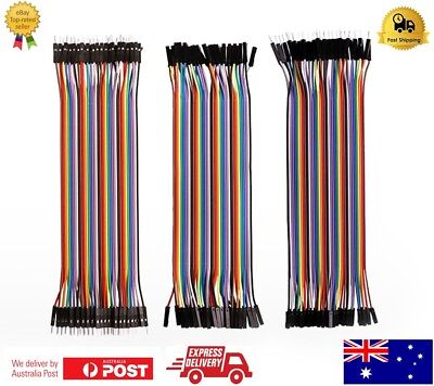 Quality 40 pcs Dupont Cable 20cm Jumper Wire for Arduino RPi breadboard-AU Stock