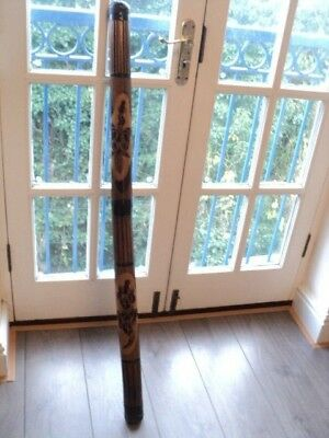 Authentic Hand Carved traditional digeridoo 120cm Long