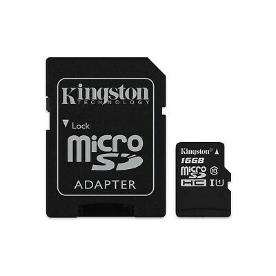 Kingston Canvas Select (16GB) MicroSD Card Class 10 UHS-1 U1 with Adapter