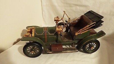 dolls house metal green victorian vintage car 1.12th scale
